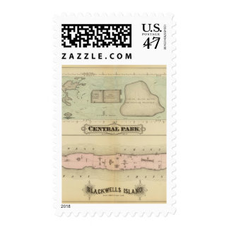 41 Central Park, isla de Blackwells Sello Postal