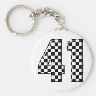 41 checkered number keychain