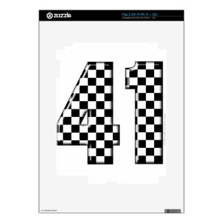 41 checkered number skins for iPad 2
