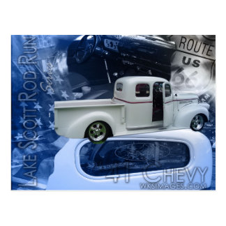 41 Chevy-Lake Scott Rod Run Series Postcard
