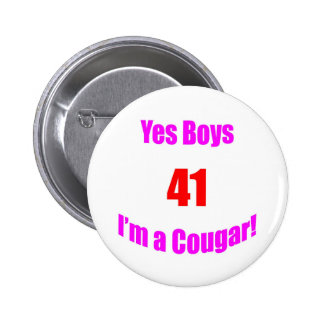 41 Cougar Birthday Buttons