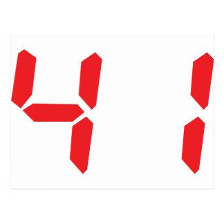 41 cuarenta y uno números digitales del despertado postal