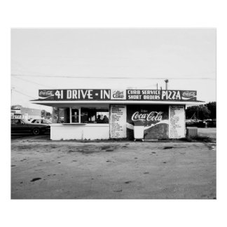 41 Drive In, Manchester Tennessee Poster