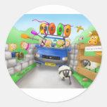 41. driving round sticker