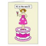 41 es el nuevo cumpleaños de 31 hembras felicitación