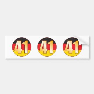 41 GERMANY Gold Bumper Sticker