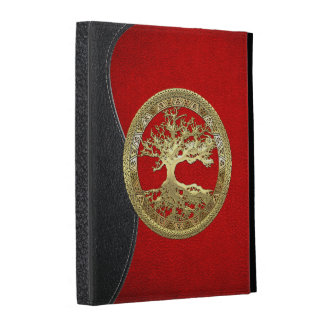 [41] Golden Celtic Tree of Life iPad Folio Cover