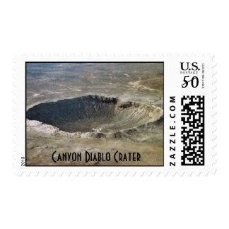 $.41 Meteorite Stamp - Canyon Diablo Crater