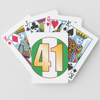 41 NIGERIA Gold Bicycle Playing Cards