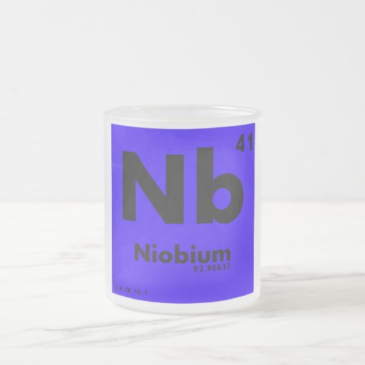 41 Niobium | Periodic Table of Elements 10 Oz Frosted Glass Coffee Mug