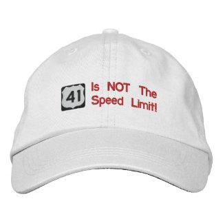 41 no es el gorra del límite de velocidad gorro bordado