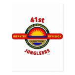"""41.o DIVISIÓN de INFANTERÍA """"JUNGLEERS """" Postal"""