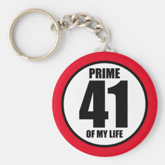 41 - prime of my life keychain