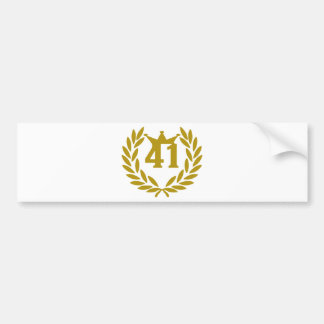 41-real-laurel-crown bumper sticker