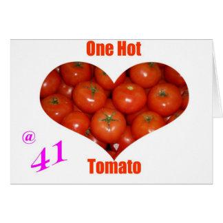 41 un tomate caliente tarjetón