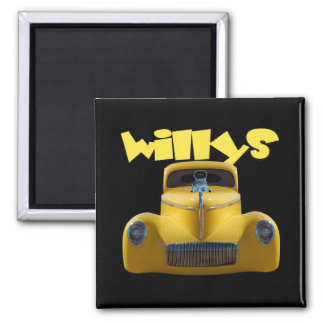 41 willys coupe 2 inch square magnet