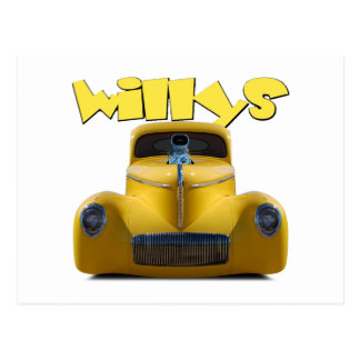 41 willys coupe postcard