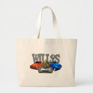 41 willys large tote bag