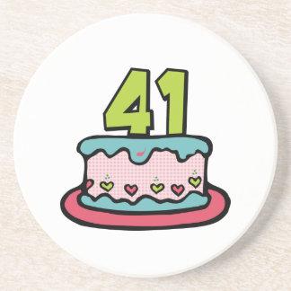 41 Year Old Birthday Cake Coaster