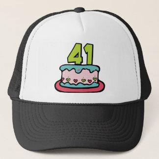 41 Year Old Birthday Cake Trucker Hat