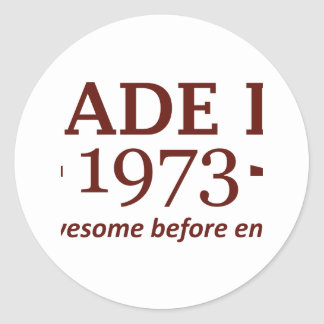 41 year old birthday designs and gifts classic round sticker