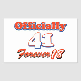 41 year old designs rectangular sticker
