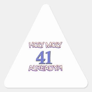 41 year old designs triangle sticker
