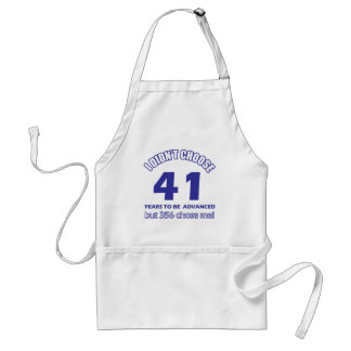 41 years advancement adult apron