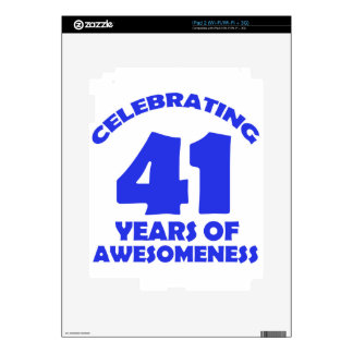 41 YEARS OLD BIRTHDAY DESIGNS DECAL FOR THE iPad 2