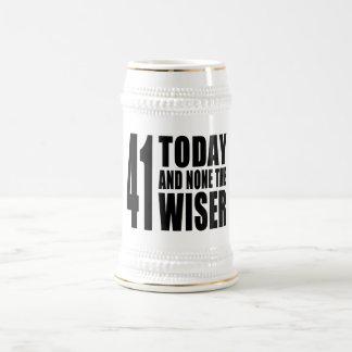 41os cumpleaños divertidos: 41 hoy y ningunos el jarra de cerveza