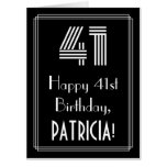 "[ Thumbnail: 41st Birthday — Art Deco Inspired Look ""41"" + Name Card ]"