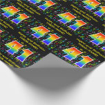 [ Thumbnail: 41st Birthday: Colorful Music Symbols, Rainbow 41 Wrapping Paper ]