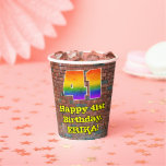 [ Thumbnail: 41st Birthday: Fun Graffiti-Inspired Rainbow 41 ]