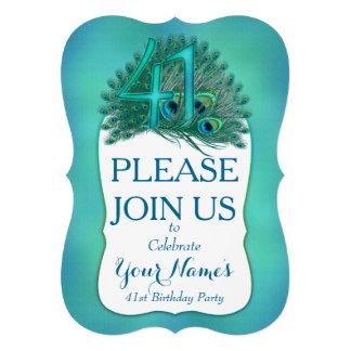 41st Birthday Invitations Custom Invitation