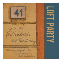 41st Birthday Party for a Trendy Urban Italian Guy Card