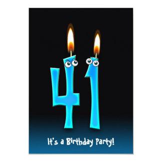 41st Birthday Party Invite