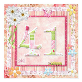 41st birthday party scrapbooking style card