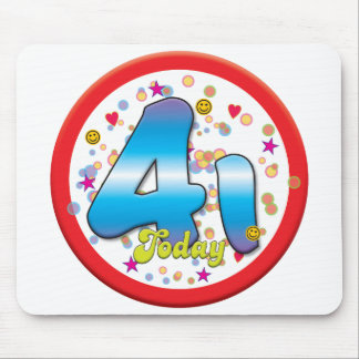 41st Birthday Today Mouse Pad
