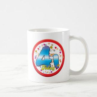 41st Birthday Today Coffee Mug