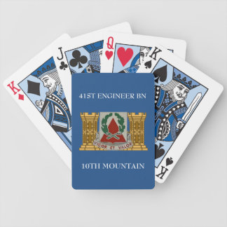 41ST ENGINEER BN 10TH MOUNTAIN HAT PLAYING CARDS