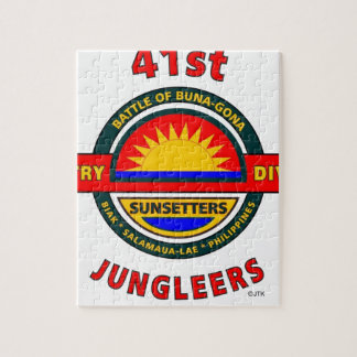 """41ST INFANTRY DIVISION """"JUNGLEERS"""" JIGSAW PUZZLE"""