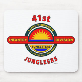 """41ST INFANTRY DIVISION """"JUNGLEERS"""" MOUSE PADS"""