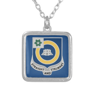 41st Infantry Regiment - DUI Silver Plated Necklace