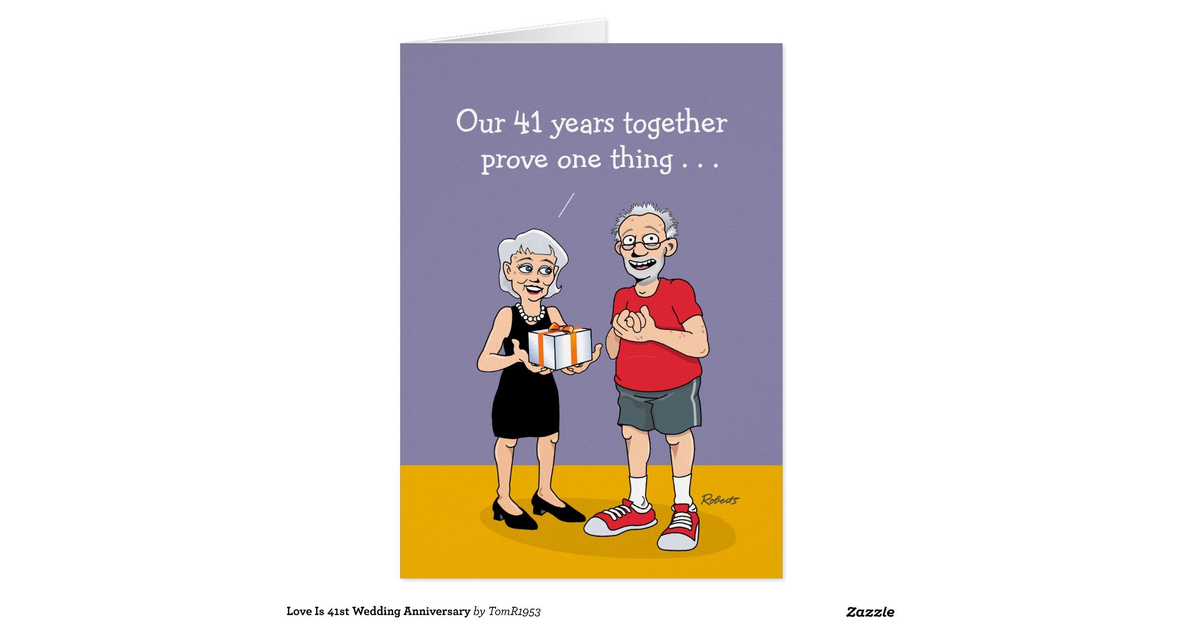 41st Wedding Anniversary Card Love Greeting Card