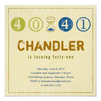 41th Birthday Invitation - Customize
