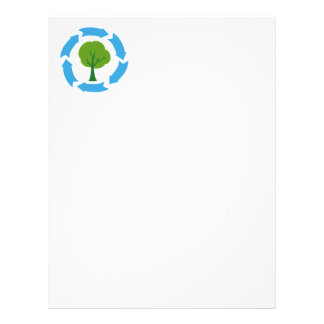 4209-Eco-Banner-With-Green-Tree CAUSES ENVIROMENT Letterhead Design