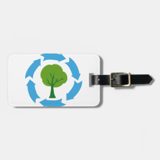 4209-Eco-Banner-With-Green-Tree CAUSES ENVIROMENT Tag For Luggage