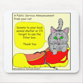 420 donate to animal shelter Cartoon Mouse Pad