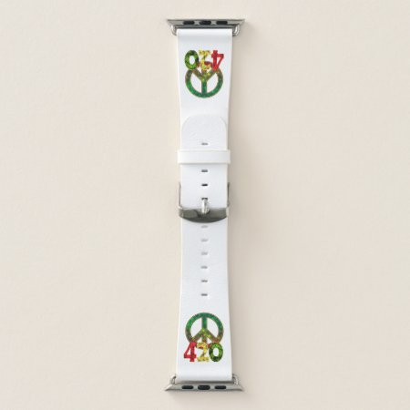420 Peace Apple Watch Band
