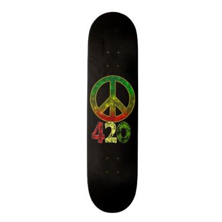 420 Peace Skateboard